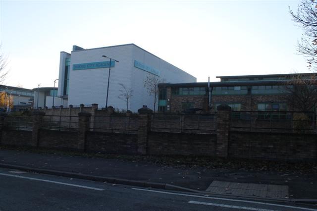 1. Dixons City Academy, Ripley Street, Bradford BD5 7RR. A typical inner city school.