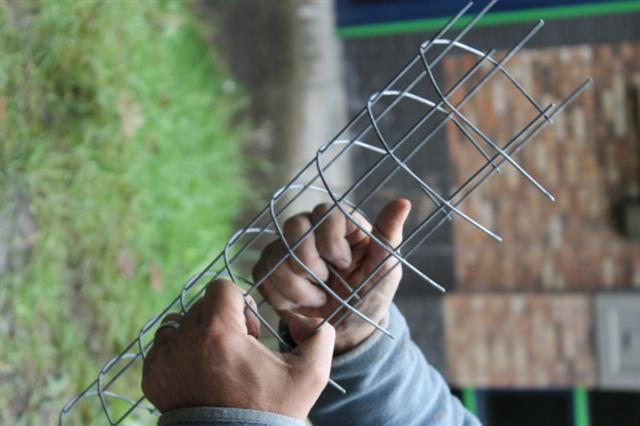 13. Making galvanised wire mesh fox proofed hole plugs