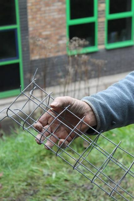 14. Making galvanised wire mesh fox proofed hole plugs